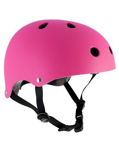 Skatehelm fluor roze Essentials