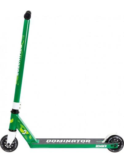 Dominator Bomber Stuntstep Groen-Wit