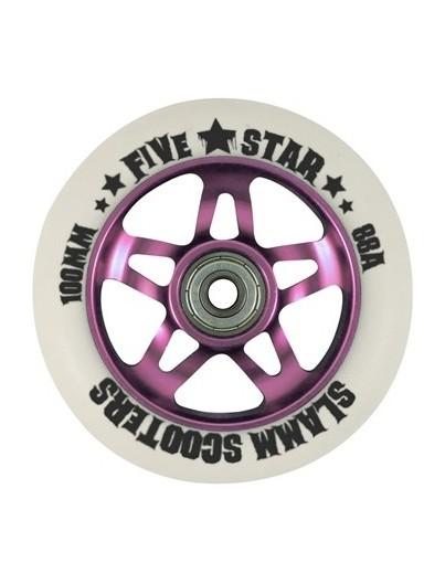 Slamm Scooters stuntstep wiel 5 Stars 100mm roze