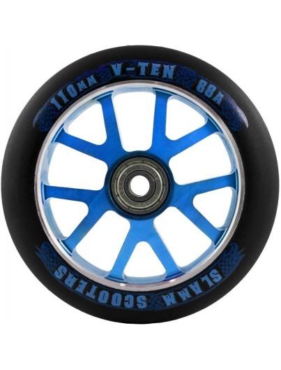 Slamm Scooter wiel V-ten 110mm zwart-blauw